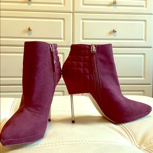 7.5 STEEL HEEL PURPLE BOOTIE || GX by Gwen Stefani